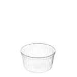 135ml Clear Ribbed Container [HZ135RE]